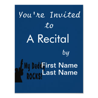 guitar rocks bk holding up electric daddy rocks card