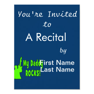 guitar rocks holding up electric green daddy rocks card