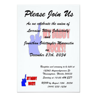 guitar rocks holding up electric red blue daddy card