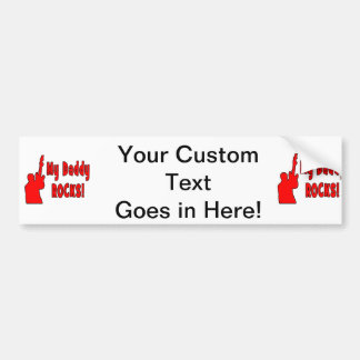 guitar rocks red holding up electric daddy rock car bumper sticker