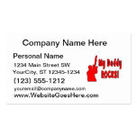 guitar rocks red holding up electric daddy rock business card template