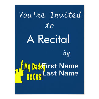 guitar rocks yellow holding up electric daddy rock card