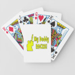 guitar rocks yellow holding up electric daddy rock card deck