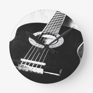 Guitar Round Clock