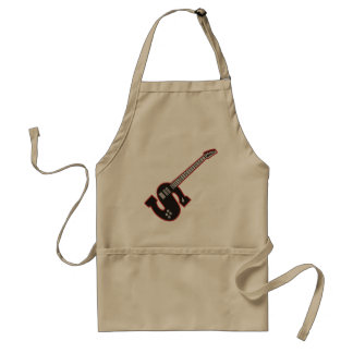 Guitar S Adult Apron