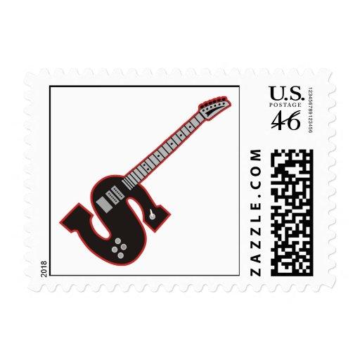 Guitar S Stamp
