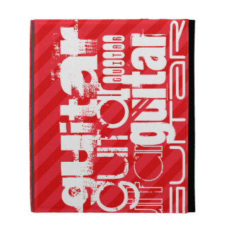 Guitar; Scarlet Red Stripes iPad Cases