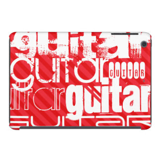 Guitar; Scarlet Red Stripes iPad Mini Retina Case