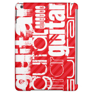 Guitar; Scarlet Red Stripes iPad Air Cover