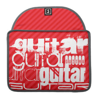 Guitar; Scarlet Red Stripes MacBook Pro Sleeve