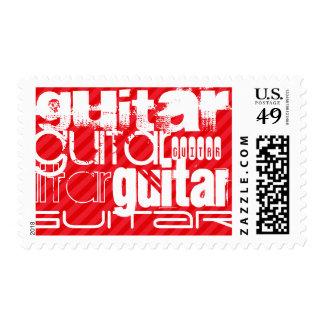 Guitar; Scarlet Red Stripes Postage