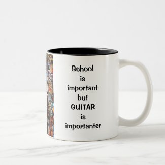 GUITAR School important Quit Work Play Guitar Mug