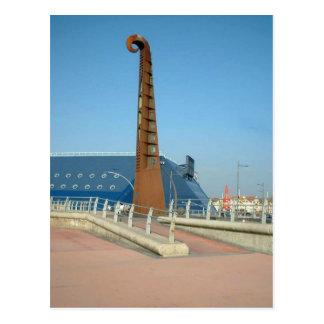 Guitar sculpture, Blackpool Postcards