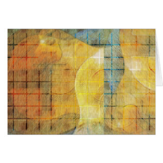 Guitar Sections Abstract Card