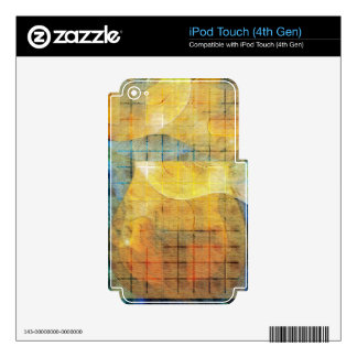 Guitar Sections Abstract Decals For iPod Touch 4G
