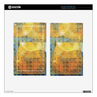Guitar Sections Abstract Kindle Fire Decal