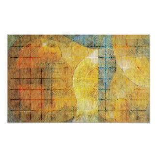 Guitar Sections Abstract Poster