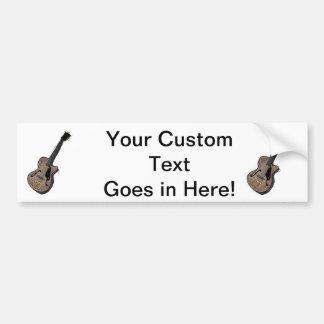 guitar semi hollow graphic grey.png car bumper sticker