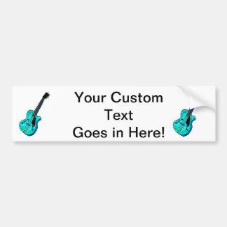 guitar semi hollow graphic l blue.png bumper sticker