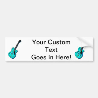 guitar semi hollow graphic l blue.png car bumper sticker