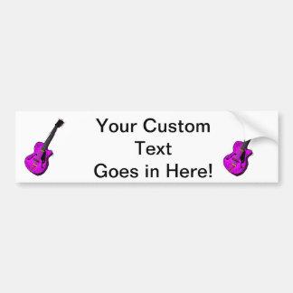 guitar semi hollow graphic purple.png bumper stickers