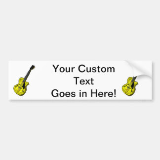 guitar semi hollow graphic yellow.png car bumper sticker