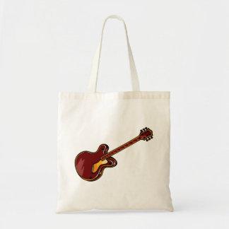 Guitar Semi Hollow Simple Burgundy Graphic Tote Bag