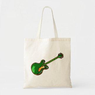 Guitar Semi Hollow Simple green Graphic Tote Bag