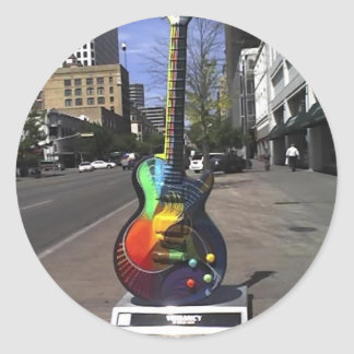 Guitar Series Classic Round Sticker