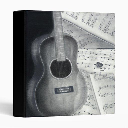 """Guitar & Sheet Music 1"""" Binder"""