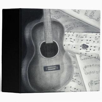 """Guitar & Sheet Music 2"""" Binder"""