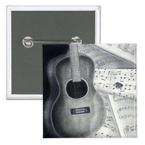 Guitar & Sheet Music Button