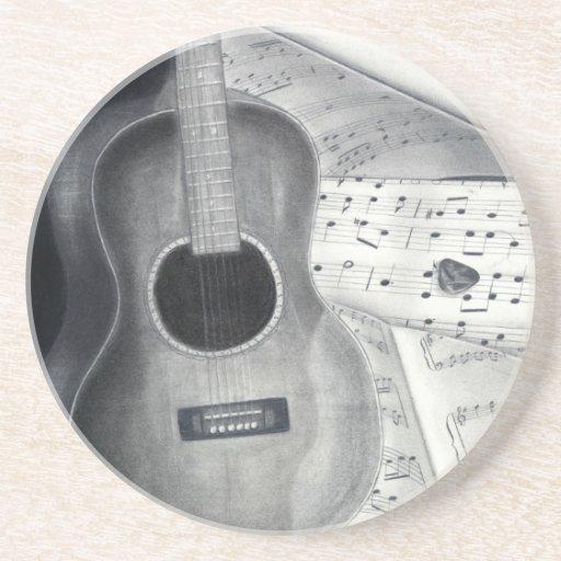 Guitar & Sheet Music Coaster