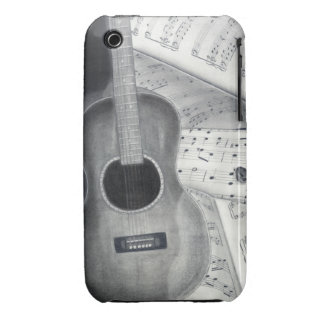 Guitar & Sheet Music iPhone 3G/3GS Bare There Case Case-Mate iPhone 3 Case