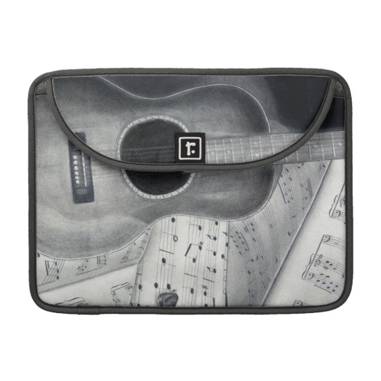 Guitar & Sheet Music MacBook Pro Sleeve