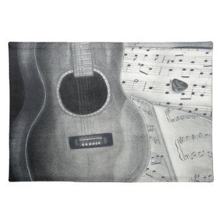 Guitar & Sheet Music Placemat
