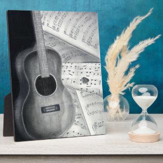 Guitar & Sheet Music Plaque