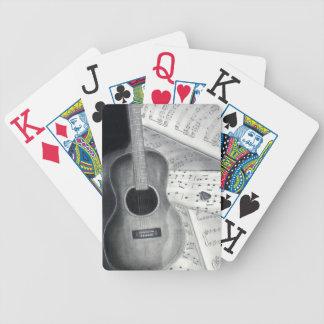 Guitar & Sheet Music Playing Cards