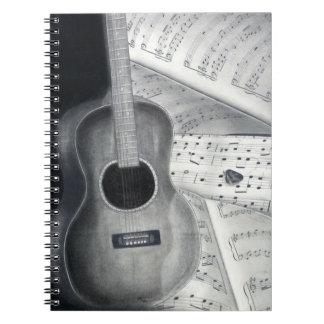 Guitar & Sheet Music Spiral Notebook