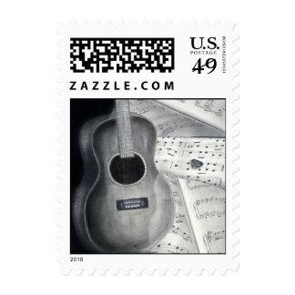 Guitar & Sheet Music Stamps