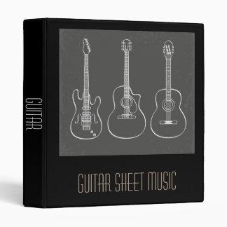 Guitar Sheet Music student folder portfolio