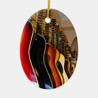 Guitar Shop Ceramic Ornament