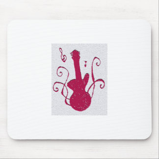 Guitar Silhouette Mouse Pad