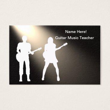 Professional Business Guitar Siluhette for Standard Matte Business Cards