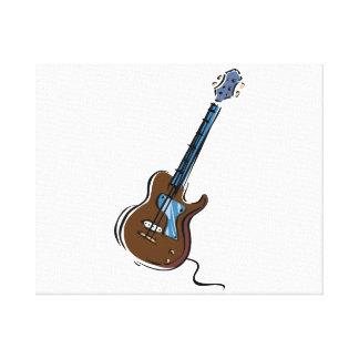 guitar single cutaway music design brown.png canvas print