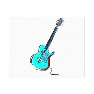 guitar single cutaway music design l blue.png canvas print