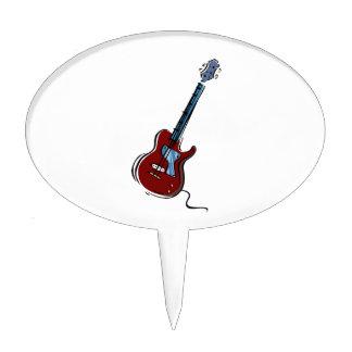 guitar single cutaway red blue music design.png cake topper