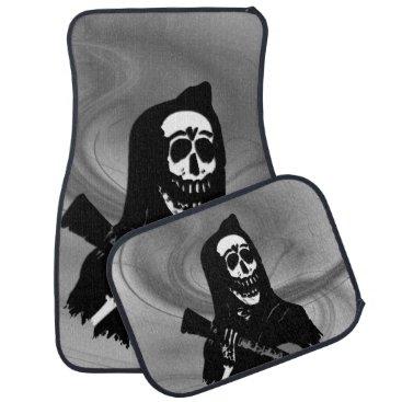 Halloween Themed Guitar Skeleton Serenade Car Mat