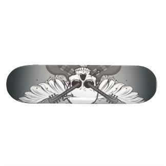 Guitar skull skateboard deck