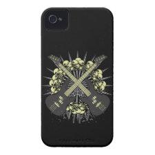 Guitar Skulls Rock Music iPhone4 iPhone4s Case Iphone 4 Id Cases